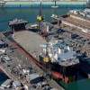 Navy's First Mobile Landing Platform Launched