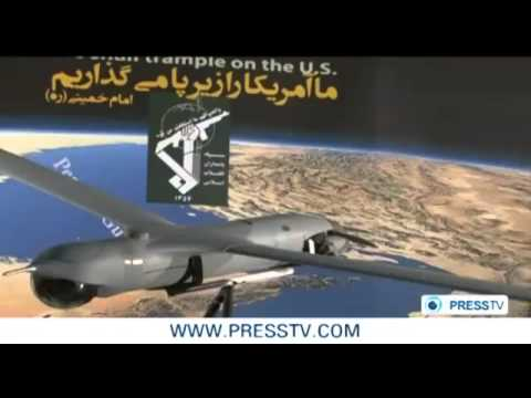 #Iran ,The first video of the Captured American ScanEagle Drone