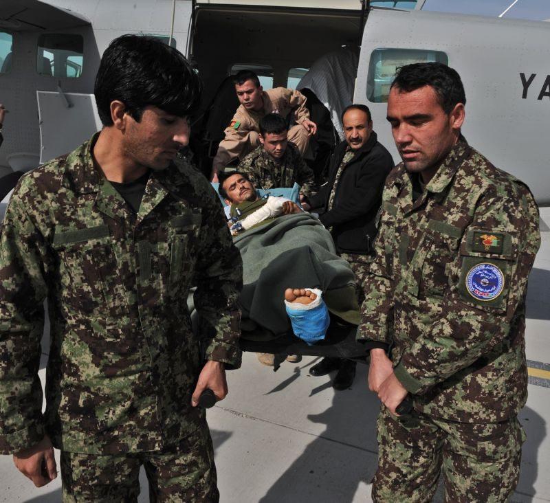 First Afghan Air Force C-208 CASEVAC a...