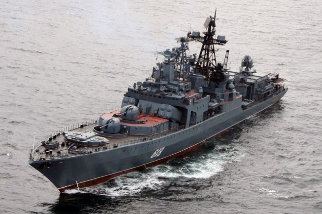 Russian Warship Escorts Second Convoy ...