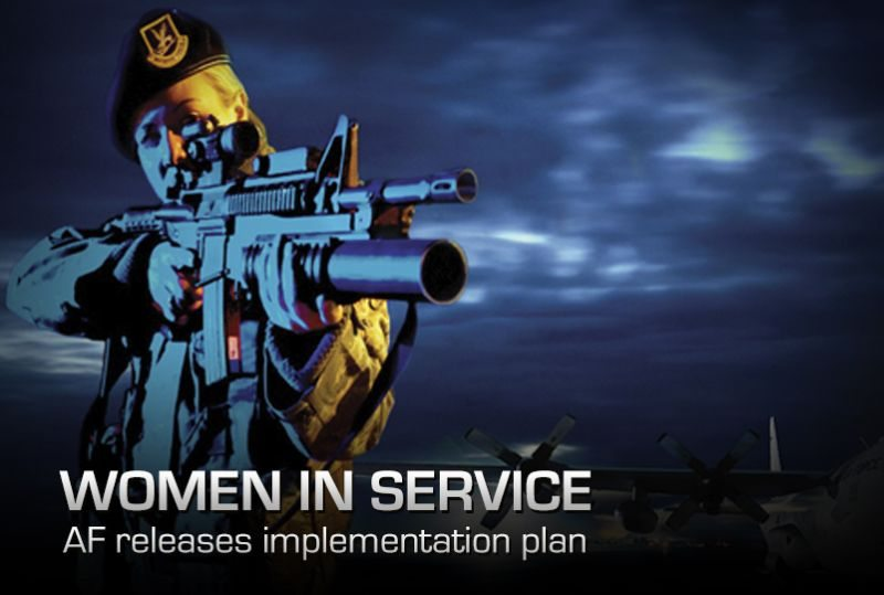 Air Force sets plan to integrate women...