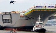 Russia hands India long-awaited aircraft carrier
