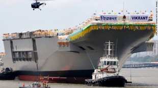 India 'milestone' as it launches own aircraft carrier