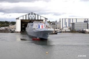 DCNS Floats Out FREMM Frigate Provence