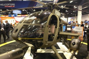 MD 530G Helicopter Fires Laser-Guided Rockets