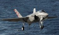 F-35C Completes First Night Flight Aboard Aircraft Carrier