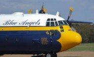 """Blue Angels C-130 """"Fat Albert"""" LOW Flyover"""