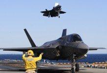 F-35B fighter jet landing
