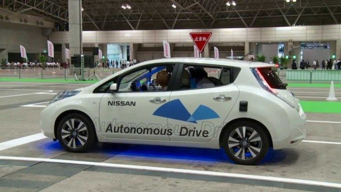 NASA Nissan autonomous vehicle