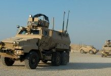 Caiman mine-resistant, ambush-protected vehicles in Iraq