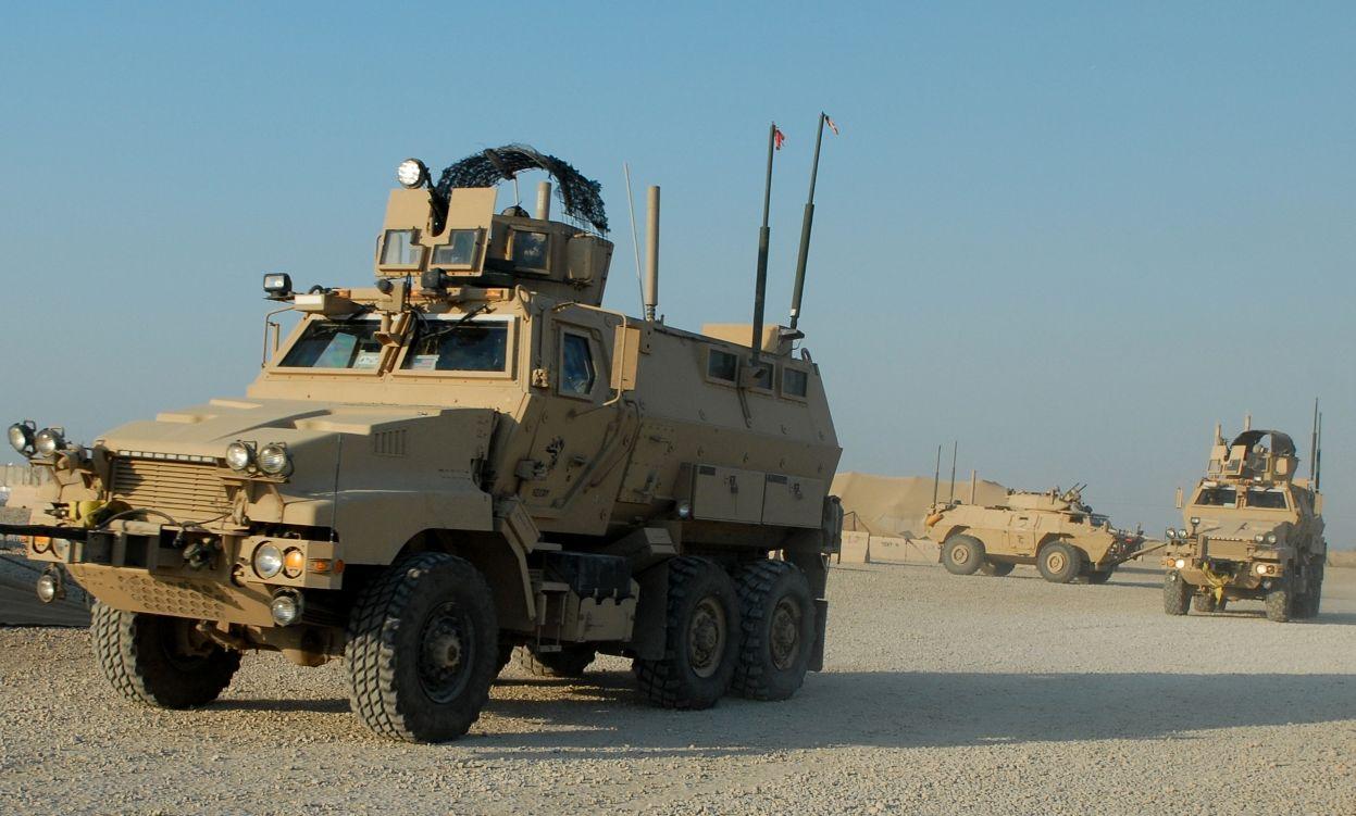 Caiman mine-resistant, ambush-protected vehicles in Iraq