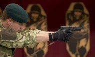 Royal Marine with Glock 17 Sidearm