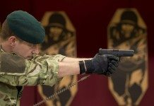 Royal Marine with Glock 17 Sidearm