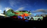 """EA-6B Prowler assigned the """"Vikings"""" of Tactical Electronic Warfare Squadron"""