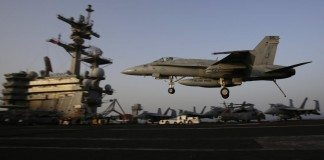 F-18 fighter aircraft
