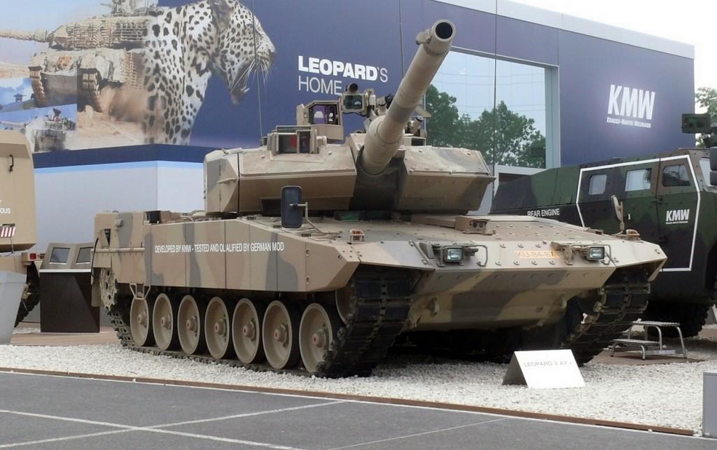 Leopard 2A7+ as seen on the Eurosatory