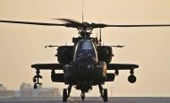 A U.S. Army AH-64 Apache attack helicopter prepares to depart Bagram Air Field, Afghanistan, on Jan 7, 2012. The Apache conducts distributed operations, precision strikes against relocatable targets, and provides armed reconnaissance when required in day, night, obscured battlefield and adverse weather conditions.