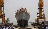 Indian Navy's New Stealth Destroyer Launched