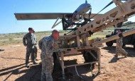 US Army Combat Aviation Soldiers master control of drones during test flights