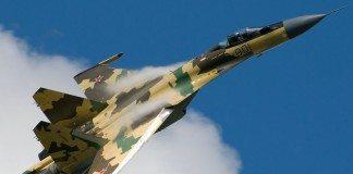 Su-35 in flight