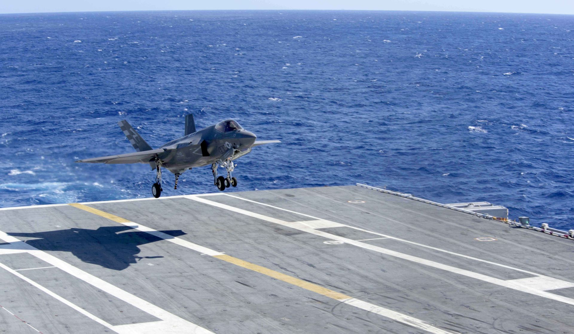 F-35C Lightning II Lands on Carrier for Second Phase of ...