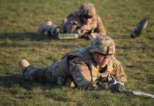 Airborne engineers, from the 173rd Airborne Brigade, conduct training during Exercise Dagger Resolve