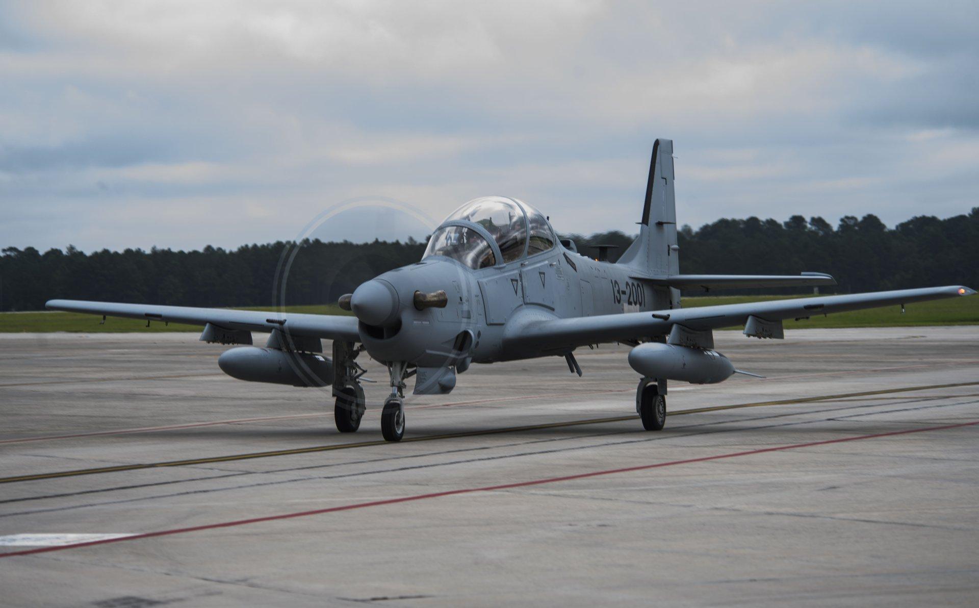 A-29 Super Tucano arrives at Moody AFB