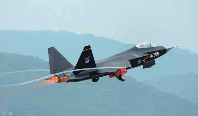 China J-31 Takeoff
