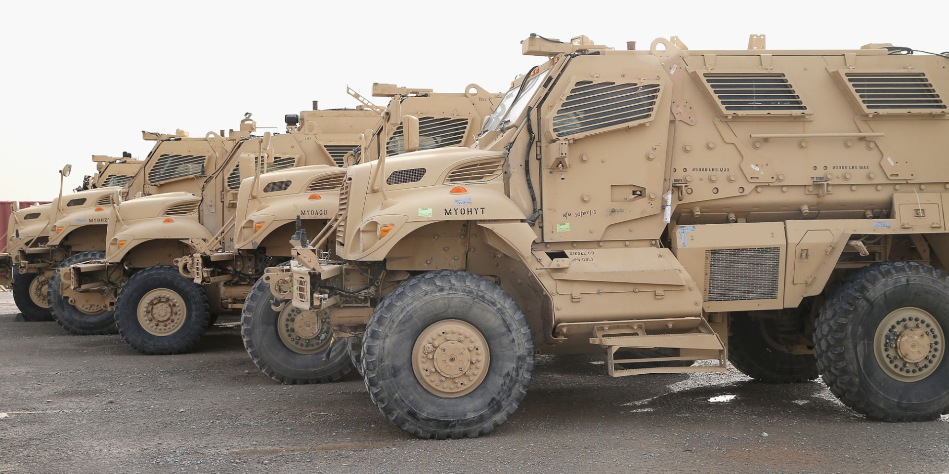 U S Delivers Armored Mrap Vehicles To Egyptian Military