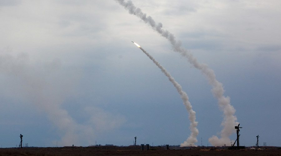 Russian Air And Missile Defense Force Launches Ballistic