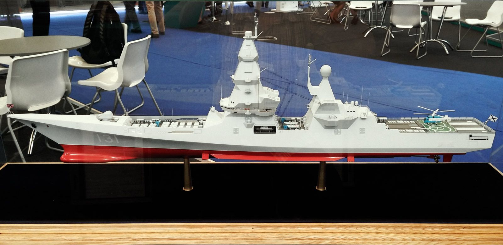 Scale model of Russian Lider class warship