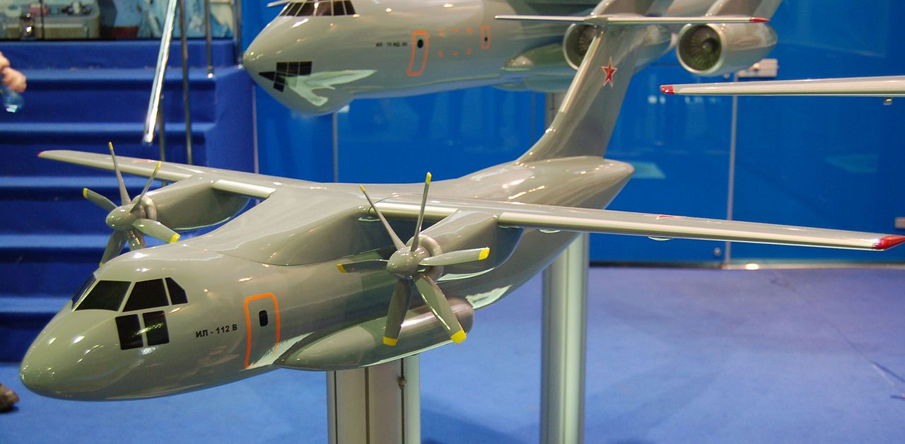 The first prototype of the Il-112V aircraft under construction has received engines 44