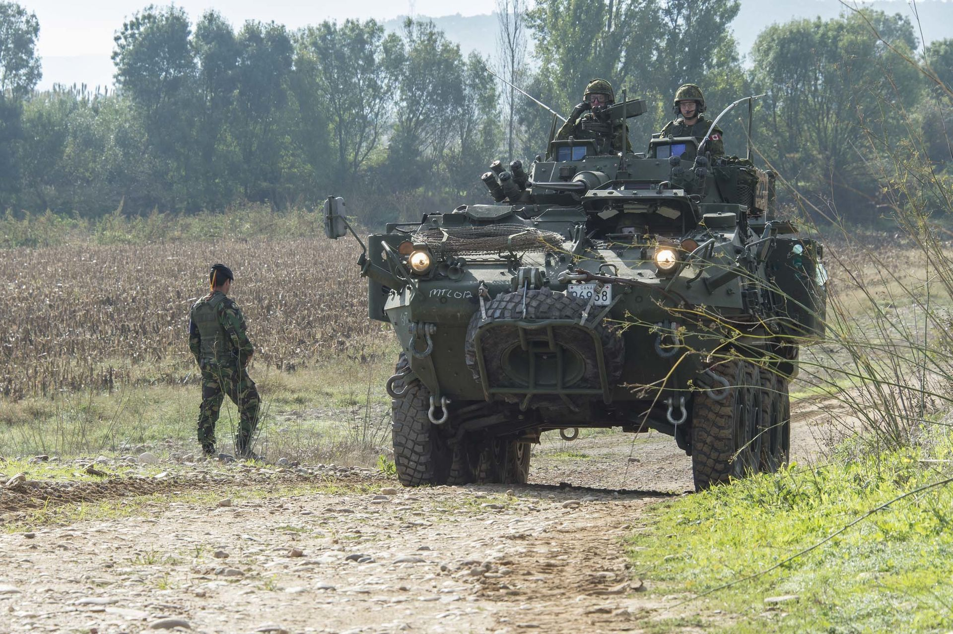 A Canadian LAV III During Exercise TRIDENT JUNCTURE