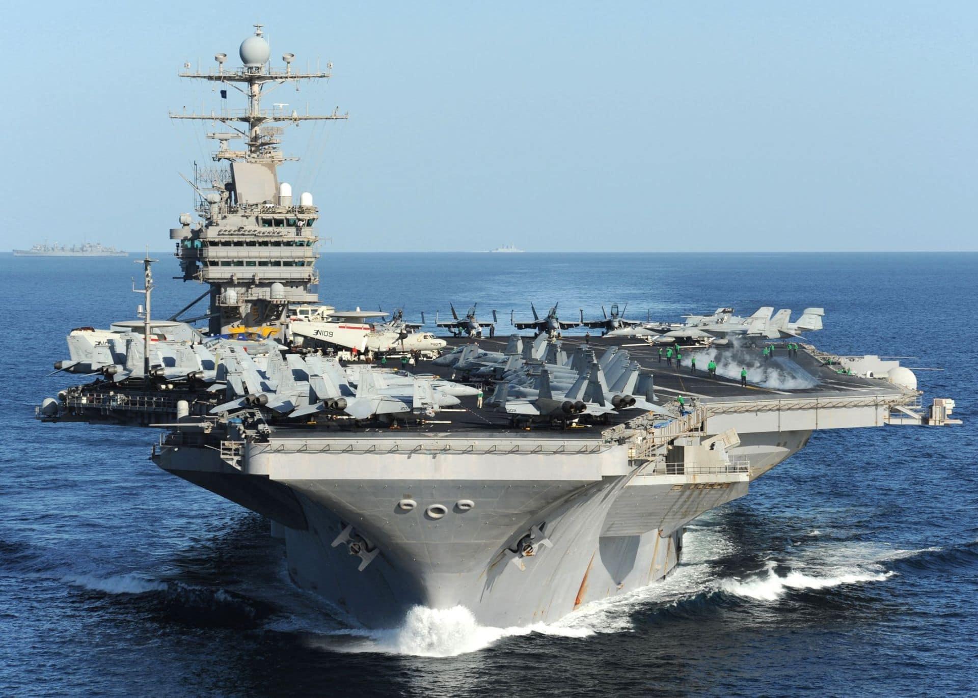 Uss Abraham Lincoln Cvn 72 Underway For Sea