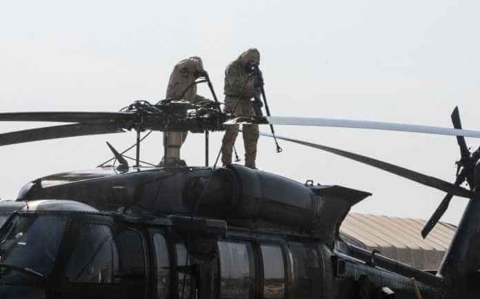 UH-60L aeromedical evacuation helicopter