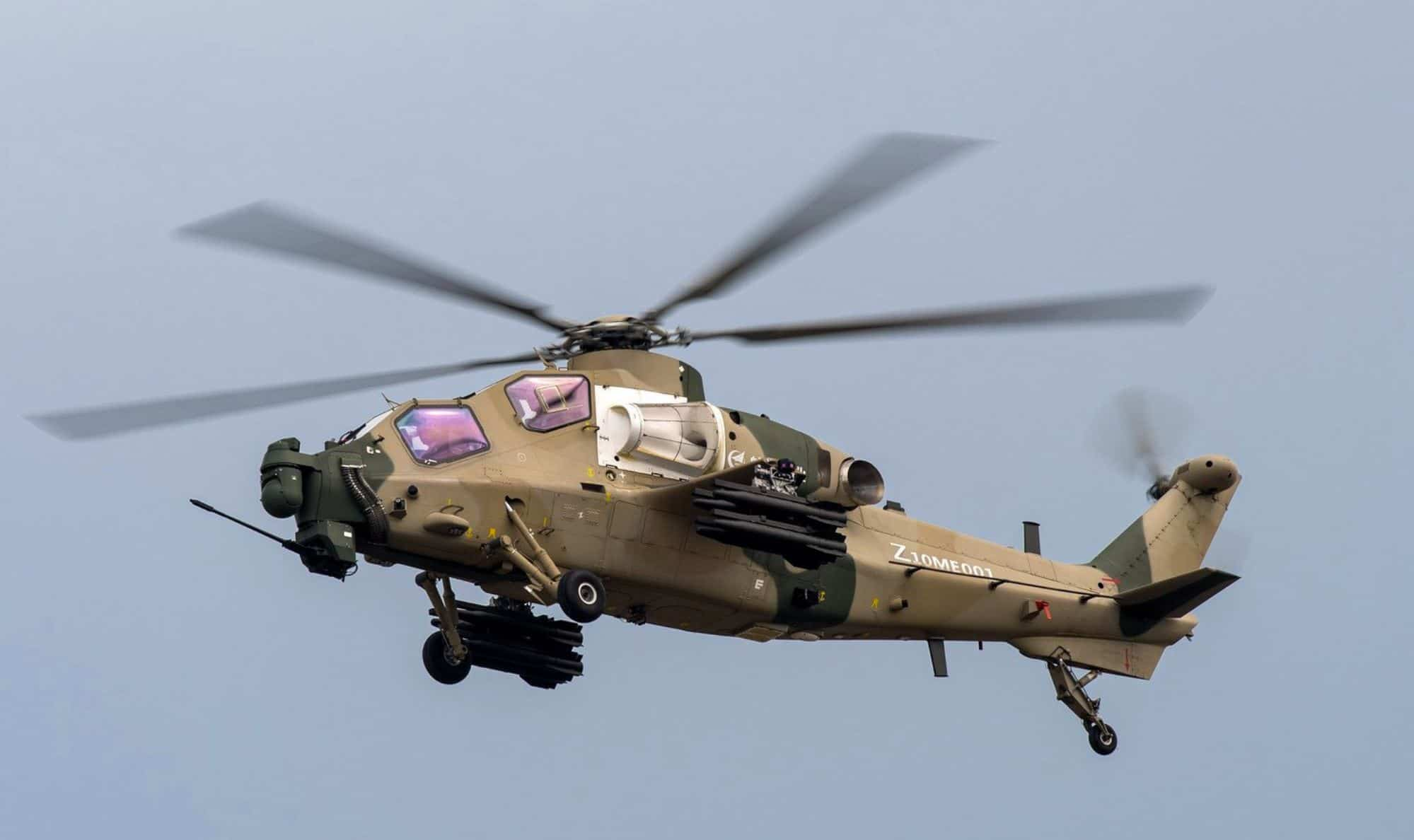 Pakistan received three attack helicopters Z-10 from China