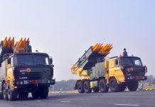 Pinaka multi-barrel rocket launcher