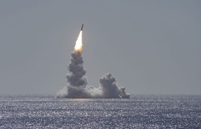 unarmed Trident II (D5LE) missile