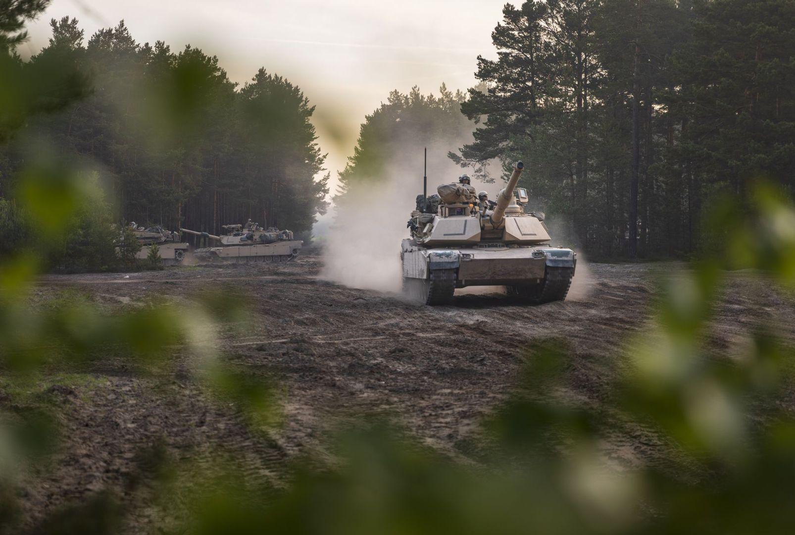 M1A2 Abrams tanks