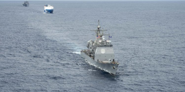 US Navy 2nd Fleet Conducts NAVEUR Convoy Exercise in the Atlantic